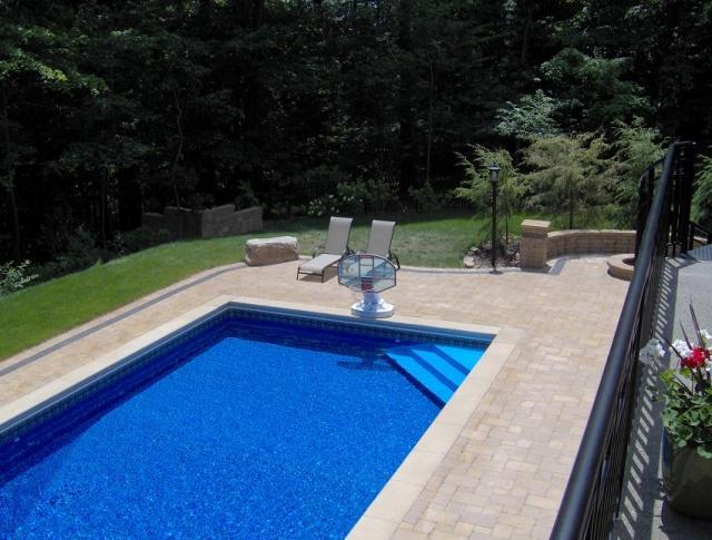 Brick Patio Around Pool